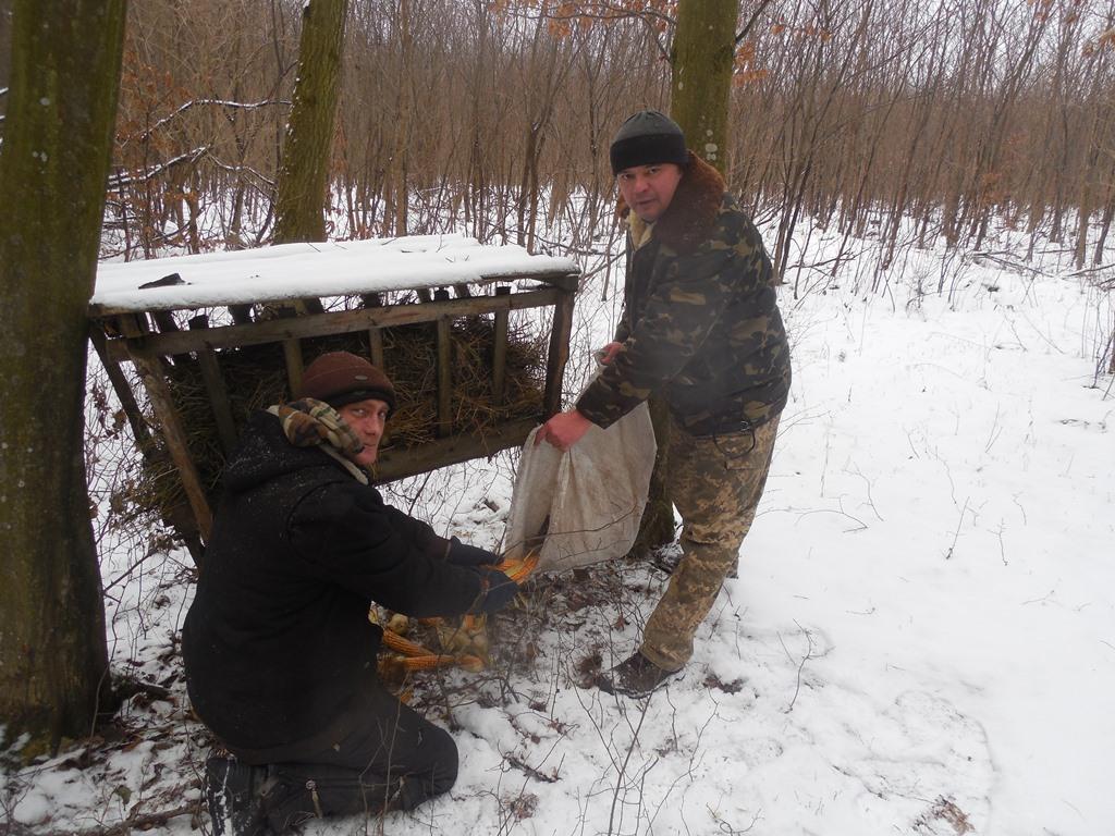 """Лісівники Хмельниччини підгодовують дичину та збагачують """"Озеро Святе"""" киснем"""