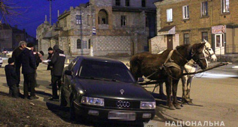 Досить курйозне ДТП сталося вчора ввечері в райцентрі Шепетівка. 24-річний чоловік, викравши пару коней, на такій швидкості мчав містом...
