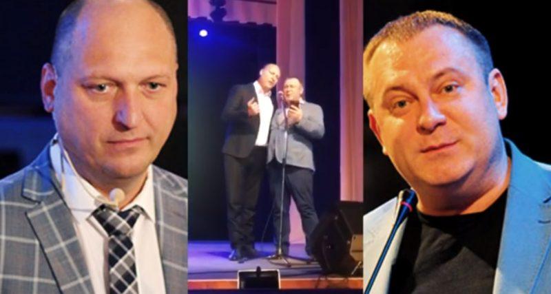 Політичний дует конкретних пацанів заспівав для медиків у Нетішині